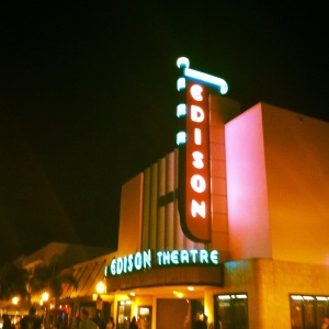 A movie theater in the downtown area of my town. Our claim to fame is that we were Thomas Edison's winter home. NYE was so much fun downtown this year!