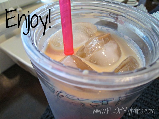 enjoy iced coffee