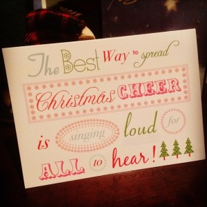 The Best Way to Spread Christmas Cheer is Singing Loud for All to Hear | www.flonmymind.com