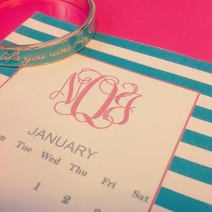 Monogram calendar