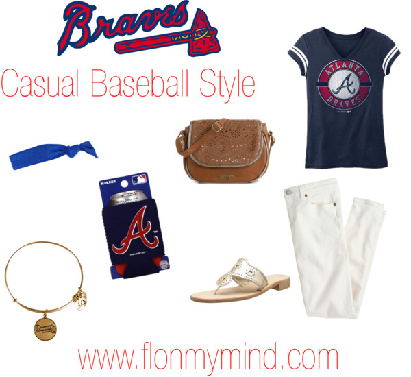 Braves Casual Baseball Style | www.flonmymind.com