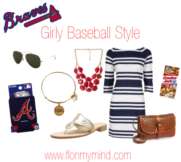 Braves Girly Baseball style | www.flonmymind.com