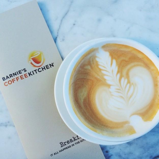 Vanilla Latte at Barnies Coffee Kitchen in Winter Park