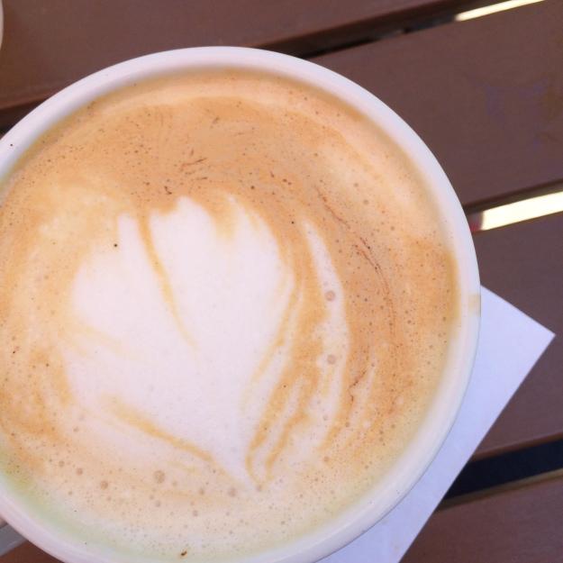 Vanilla latte at Sun in My Belly